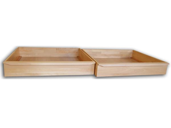 1/2 zásuvky pod posteľ z masívu 220 cm (2 ks) - Styler - Petra